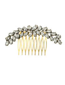 Fashion Gold Color Full Diamond Decorated Simple Hair Accessories