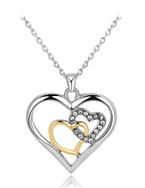 Fashion Multi-color Heart Shape Decorated Necklace