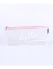 Fashion Pink Letter Pattern Decorated Pencil Case