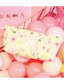 Fashion Yellow Butterfly Pattern Decorated Pencil Case