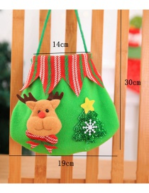 Fashion Green Elk&tree Pattern Decorated Gift Bag