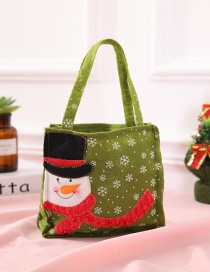 Fashion Green Snowflake Pattern Decorated Christmas Gift Bag