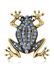 Fashion Gold Color Frog Shape Decorated Brooch
