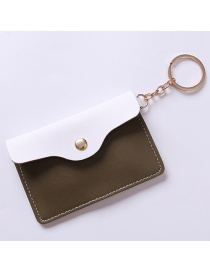 Fashion White+brown Color-matching Decorated Purse