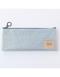 Fashion Blue Stripe Pattern Decorated Storage Bag