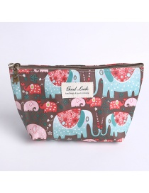Fashion Brown Elephant Pattern Decorated Storage Bag
