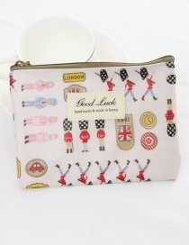 Fashion White Cartoon Pattern Decorated Coin Purse