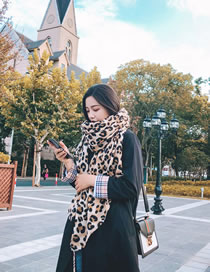 Fashion Leopard Leopard Decorated Scarf