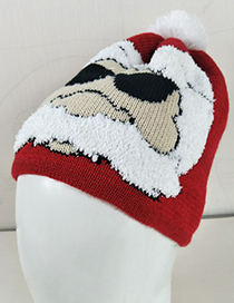 Fashion Multi-color Santa Claus Shape Decorated Hat