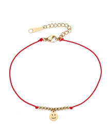 Fashion Red Smile Face Shape Decorated Bracelet