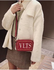 Fashion Red Letter Pattern Decorated Bag