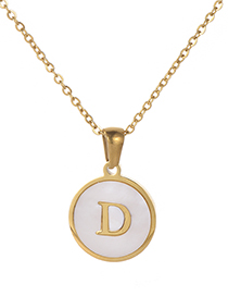 Fashion Gold Color Letter D Shape Decorated Necklace