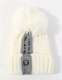 Fashion White Letter Pattern Decorated Pom Ball Hat