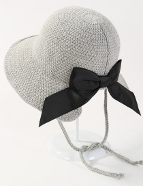 Fashion Light Gray Bowknot Shape Decorated Hat