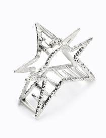 Elegant Silver Color Star Shape Design Pure Color Hair Claw