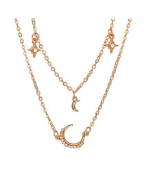Fashion Gold Color Moon&star Shape Decorated Choker