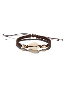 Fashion Brown Shell Decorated Simple Anklet&bracelet