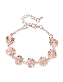 Fashion Pink Insect Shape Decorated Bracelet
