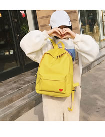 Fashion Yellow Pure Color Design Simple Backpack