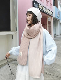 Fashion Light Pink Stripe Pattern Decorated Scarf