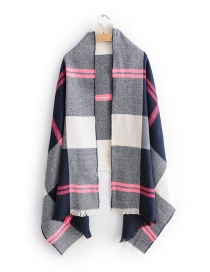 Fashion Multi-color Grids Pattern Decorated Scarf