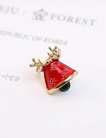Fashion Red Bell Shape Decorated Earring(1piece)