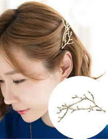 Fashion Gold Color Branch Shape Decorated Hair Clip