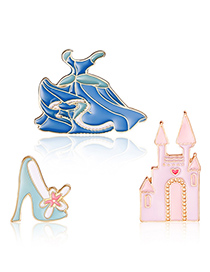 Fashion Multi-color High Heels Shoes Shape Decorated Clothing&bag Buckle(3pcs)