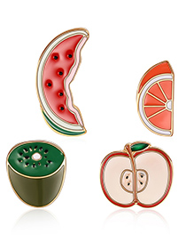 Fashion Multi-color Watermelon Shape Decorated Clothing&bag Buckle(4pcs)