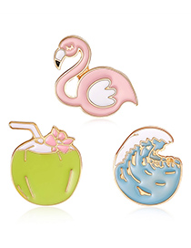 Fashion Multi-color Swan Shape Decorated Clothing&bag Buckle(3pcs)