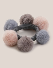 Fashion Multi-color Fuzzy Ball Decorated Hairband