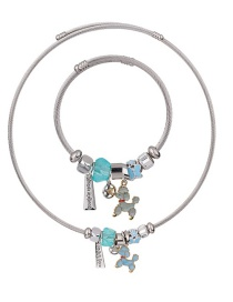 Fashion Blue Dogs Shape Decorated Jewelry Set