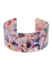 Fashion Multi-color Flower Pattern Decorated Opening Bracelet