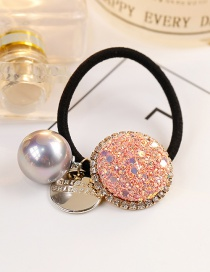 Fashion Pink Ball Shape Decorated Hair Rope