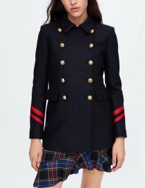 Fashion Multi-color Button Decorated Coat