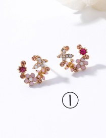 Fashion Multi-color Flower Shape Decorated Earrings