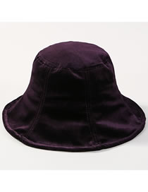 Fashion Purple Pure Color Design Fisherman Hat