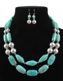 Fashion Green Pearls&beads Decorated Jewelry Sets