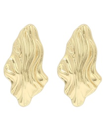 Fashion Gold Color Irregular Shape Design Pure Color Earrings