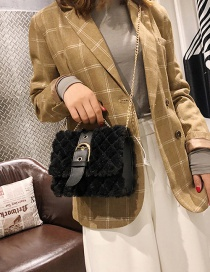 Fashion Black Pure Color Design Square Shape Bag