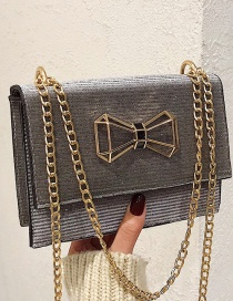 Fashion Silver Color Bowknot Shape Decorated Shoulder Bag