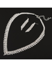 Fashion Silver Color Pure Color Design Bridal Jewelry Sets
