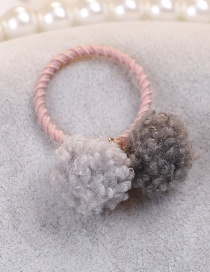Lovely Gray Fuzzy Balls Decorated Hair Band(1pc)