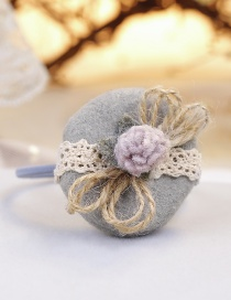 Lovely Gray Flowers Decorated Child Hair Band
