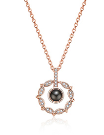 Fashion Gold Color Hollow Out Round Shape Decorated Necklace