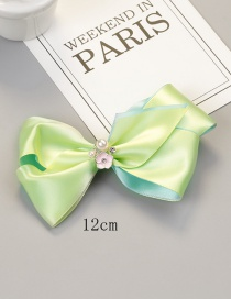 Fashion Green Bowknot Shape Decorated Hair Clip