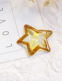 Fashion Yellow Star Shape Decorated Hair Clip