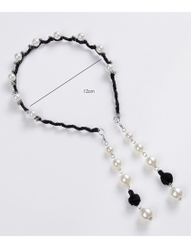 Fashion Black Pearl Decorated Hair Hoop