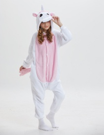 Fashion Light Pink Unicorn Shape Design Thicken Pajamas