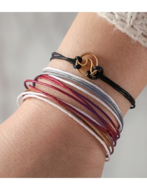 Fashion Multi-color Multi-layer Design Bracelets(4pcs)